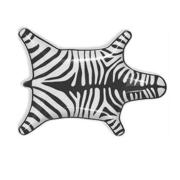 Jonathan Zebra Stacking Dish Black | Decor