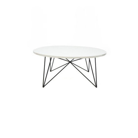 Round Gloss White Coffee Table 85cm D | Furniture