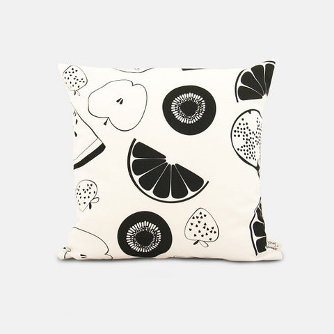 Black Fruit Salad Cushion | Outdoor