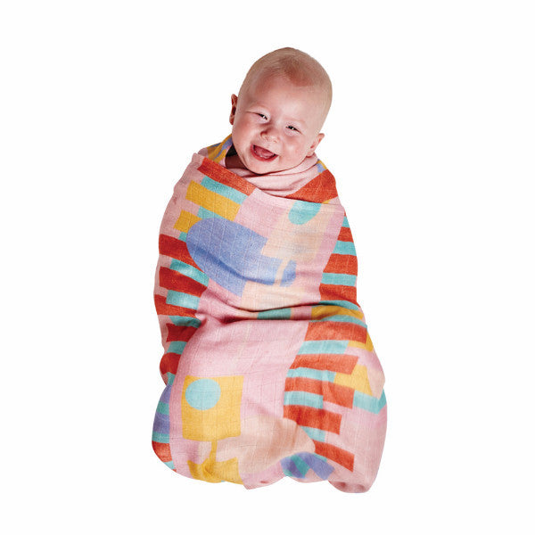 Kip & Co | Bamboo Swaddle Set - Dino Max & Shapely