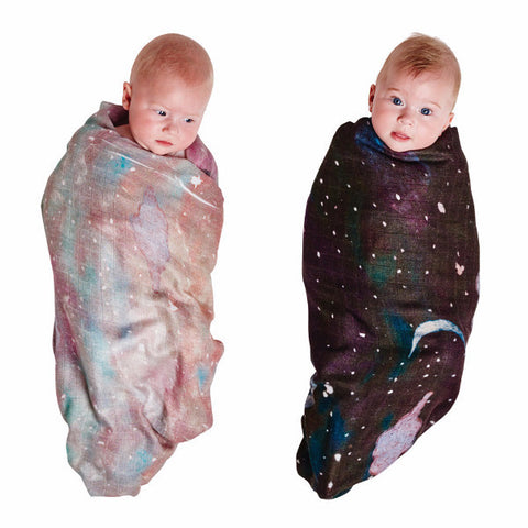 Kip & Co | Bamboo Swaddle Set - Starry Day & Starry Night