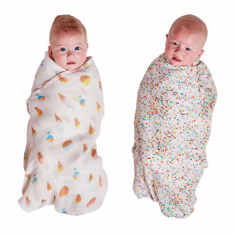 Kip & Co | Bamboo Swaddle Set - Sundae & Sprinkle Mania