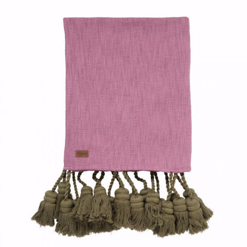 Kip & Co | Throw - Pinkie Grove Tassel