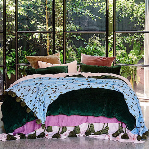 Kip & Co | Quilt Cover - Kombu Green Velvet