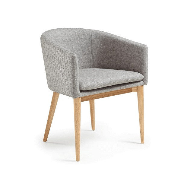 Harmon Quilted Armchair Light Grey   Furniture ...