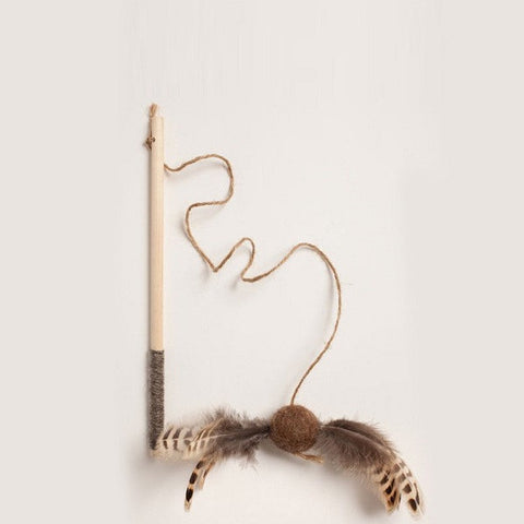 Pheasant Birch Wand Cat Toy