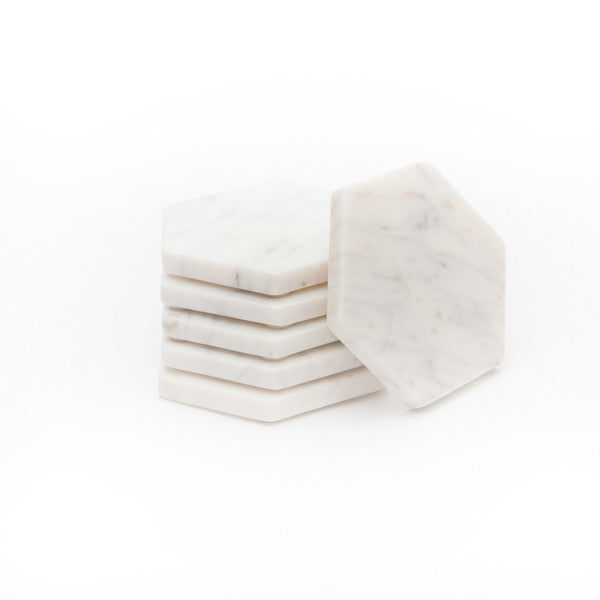 Marble Basics | Basic Hexagonal Coasters - Set of 6