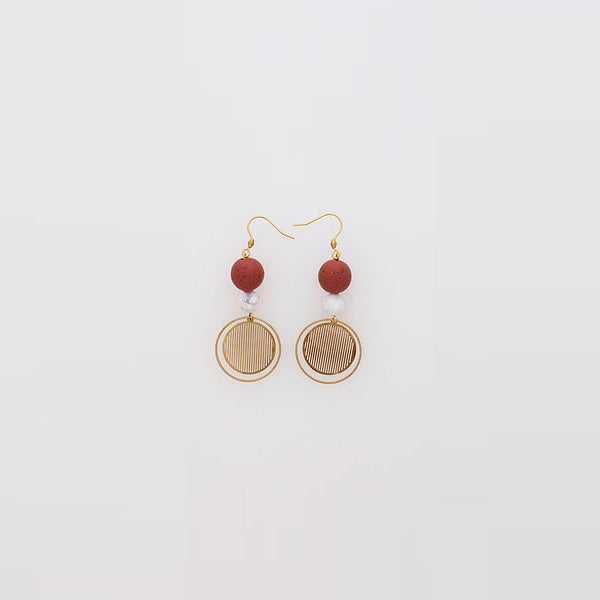 Middle Child | Demi Earrings Rusted Red