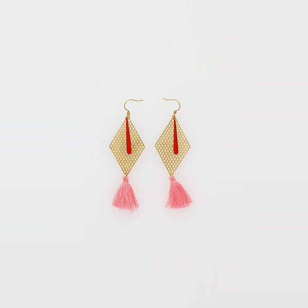 Middle Child | Kitely Earrings Pink / Red