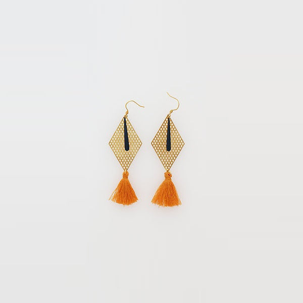 Middle Child | Kitely Earrings Navy / Tan