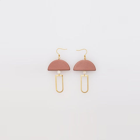 Middle Child | Pendulum Earrings Soft Copper