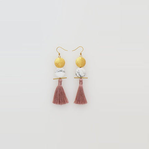Middle Child | Saintly Earrings Dusty Rose