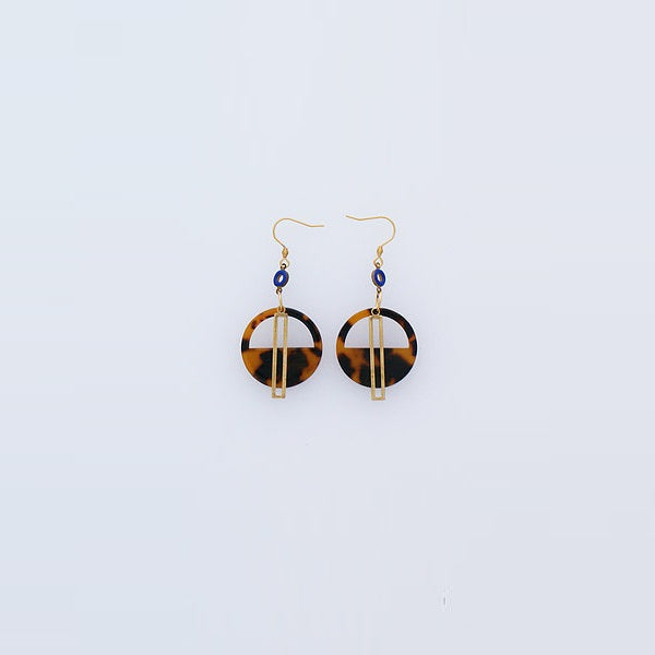 Middle Child | Yacht Earrings Tortoise / Blue