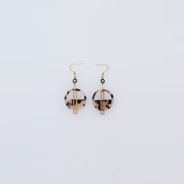 Middle Child | Yacht Earrings Natural / Green