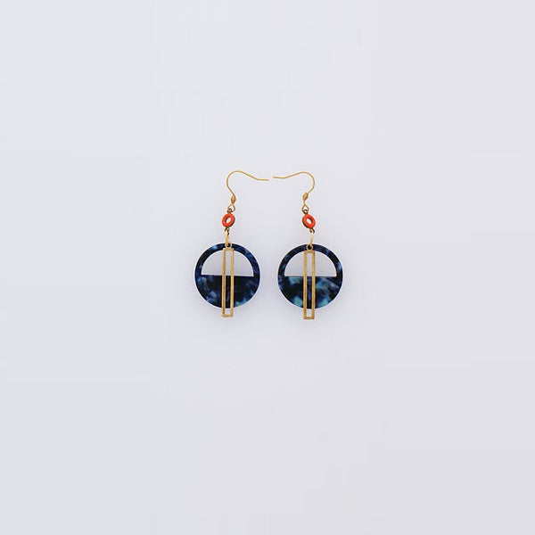 Middle Child | Yacht Earrings Blue / Orange
