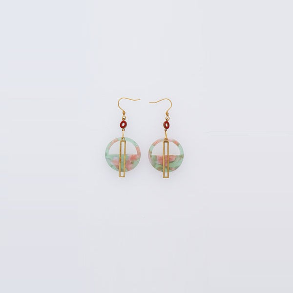 Middle Child | Yacht Earrings Jade/ Red