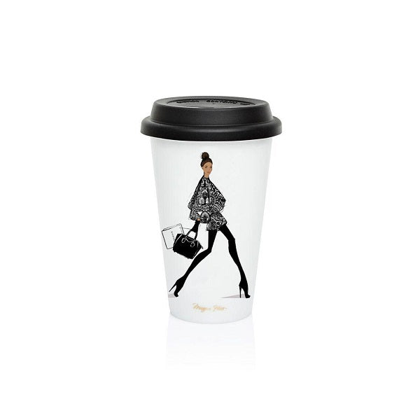 Megan Hess Coffee Cup - Late Night Ristretto in Givenchy