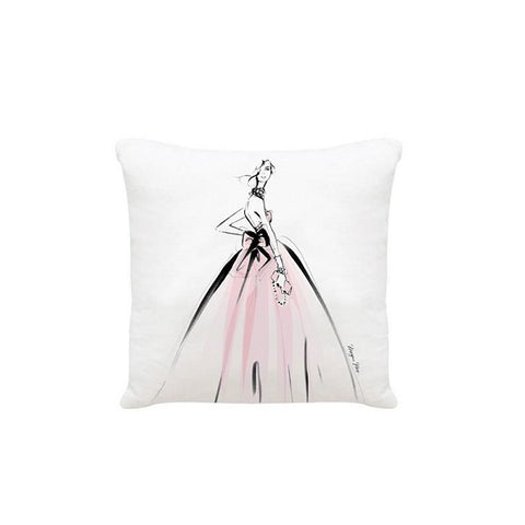 Megan Hess Cushion - Crillon Ball