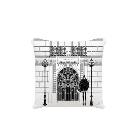 Megan Hess Cushion - Paris Gates
