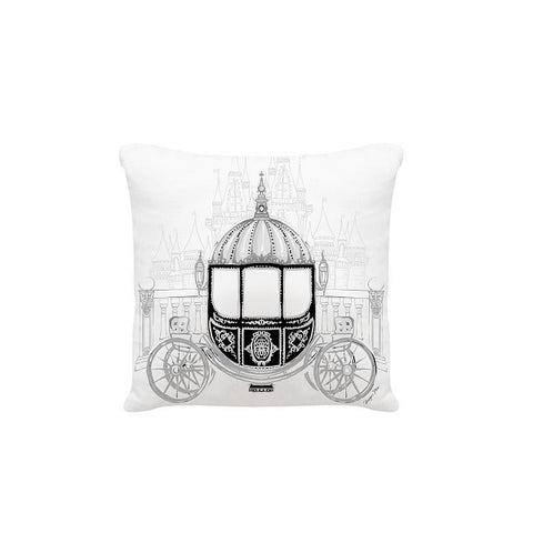 Megan Hess Cushion - The Carriage