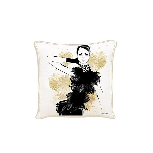 Megan Hess Cushion - The Feathers