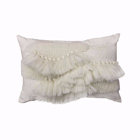 Aria Tufted White Cushion