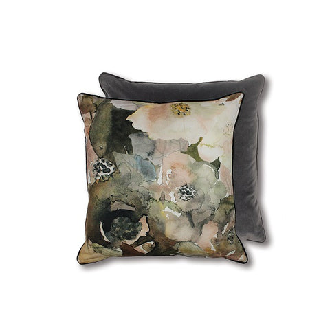 Florence Cushion Olive/Blush 55cm