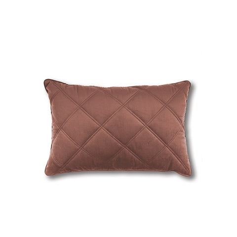 Mira Quilted Rectangle Ashes of Roses | Cushion