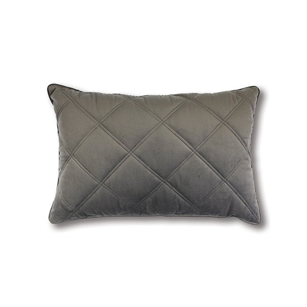 Mira Quilted Rectangle Grey | Cushion