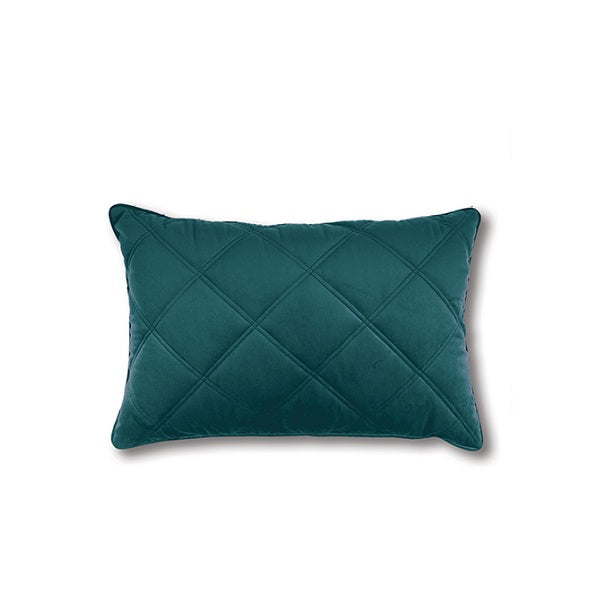 Mira Quilted Rectangle Teal | Cushion