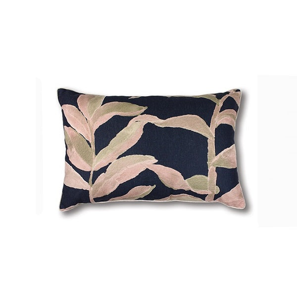 Olinda Cushion Blush/Navy Rectangle