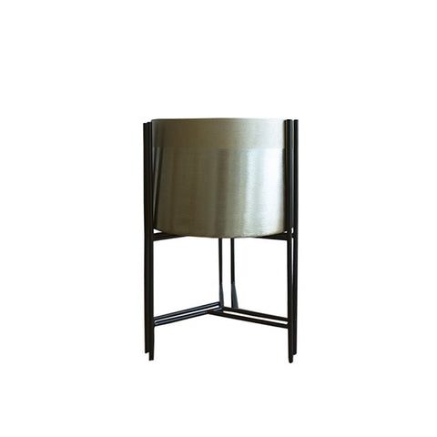 Decor | Portland Gold Planter with Stand Low