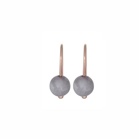 Nicole Fendel Jewellery | Alexa Bead Earrings Dove Grey Agate