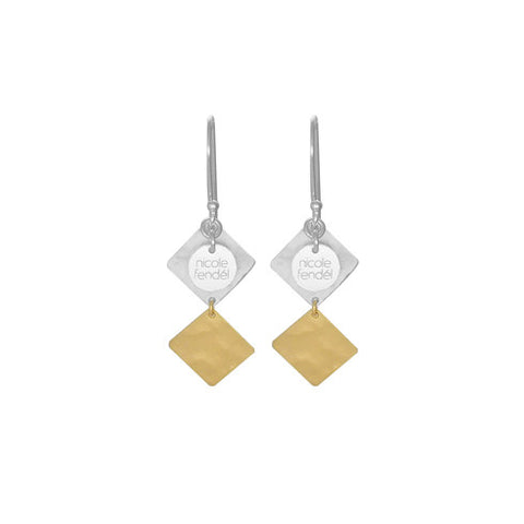NF | Arrow Cleo Silver Gold Earring | Jewellery