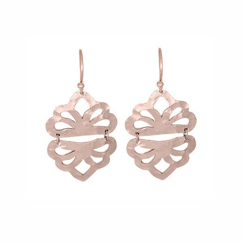 Nicole Fendel Jewellery | Estelle Drop Earrings Rose Gold