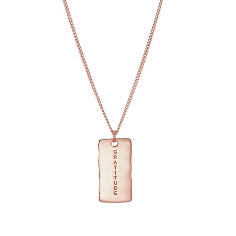 NF | Sentiments Gratitude Pendant Rose Gold Necklace | Jewellery