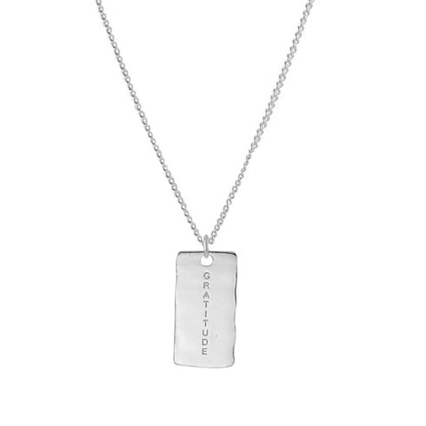 NF | Sentiments Gratitude Pendant Silver Necklace | Jewellery