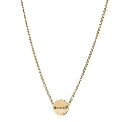 Nicole Fendel Jewellery | Love Always Necklace Soft Gold