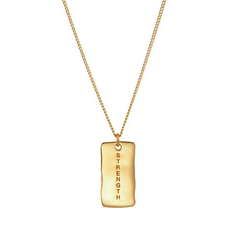 NF | Sentiments Strength Pendant Gold Necklace | Jewellery