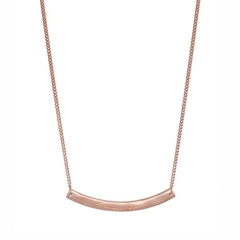 Nicole Fendel Jewellery | Willow Organic 'Live Your Dreams' Bar Pendant Rose Gold