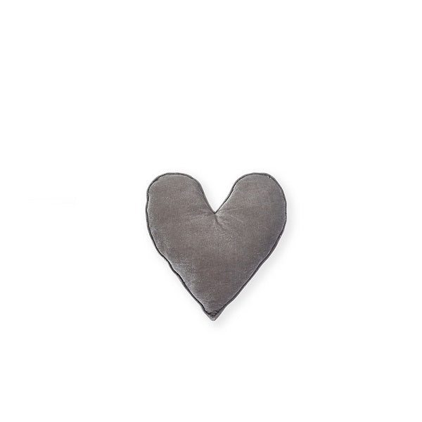 Nana Huchy | Velvet Heart Cushion Grey 25cm