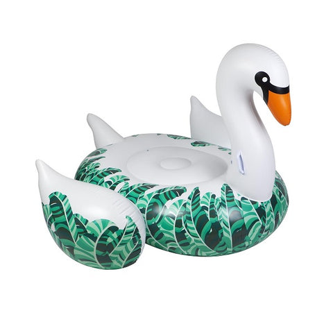 Luxe Ride - On Float Swan Banana Palm | Outdoor + Pool