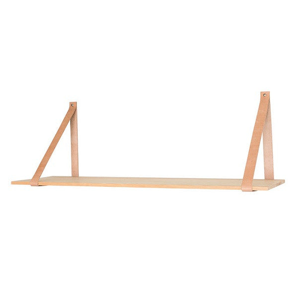 Alek Shelf With Leather Strap | Decor