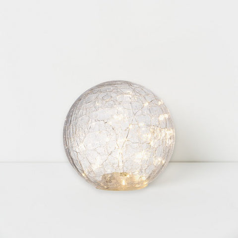 Decoration | Drift LED Crackle Glass Ball - Large