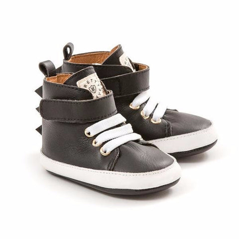 Pretty Brave | Black Dragon Baby Hi-Top Shoes