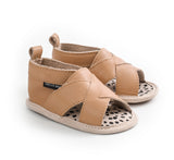 Pretty Brave | Tan Cross Over Sandals