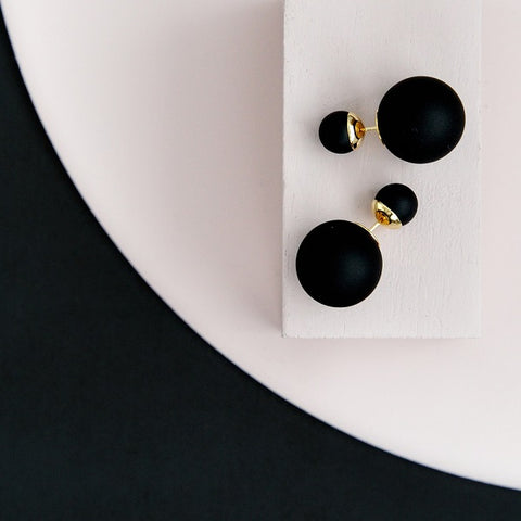 Bubble Earrings - Black