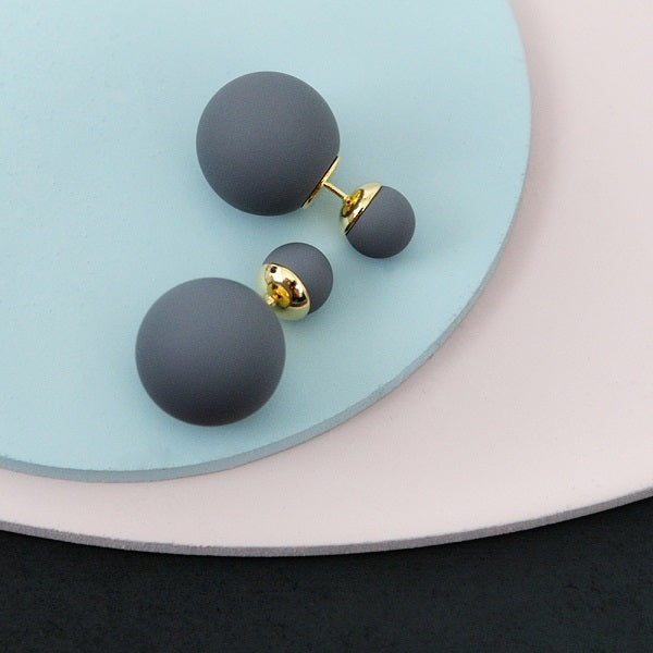 Bubble Earrings - Dark Grey