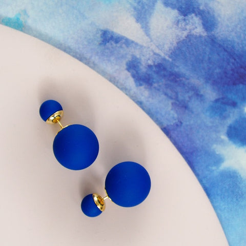 Bubble Earrings - Navy Blue
