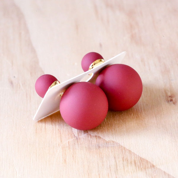 Bubble Earrings - Red